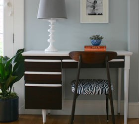 midcentury modern desk and chair makeover painted furniture repurposing upcycling