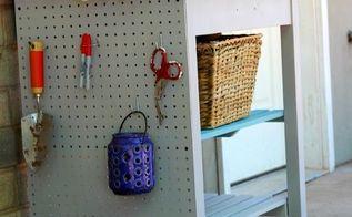 kitchen cart turned gardening station, gardening, outdoor furniture, painted furniture, repurposing upcycling