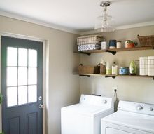 budget laundry room makeover and reveal, laundry rooms, organizing, shelving ideas