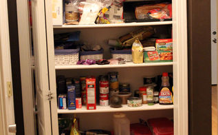 budget friendly and colorful pantry makeover, closet, organizing, repurposing upcycling, storage ideas