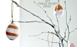 diy crafts easter chalk paint eggs, chalk paint, crafts, easter decorations, how to, seasonal holiday decor
