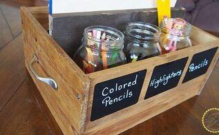 rustic wood mason jars make an organized life, home office, how to, mason jars, organizing, repurposing upcycling