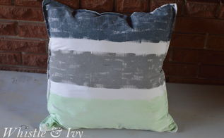 hand painted throw pillows, crafts, repurposing upcycling, reupholster