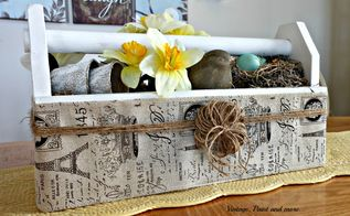 toolbox centerpiece, crafts, dining room ideas, flowers, gardening, repurposing upcycling