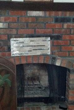 1970 s brick fireplace diy makeover, concrete masonry, fireplaces mantels, how to, tiling, Original brick