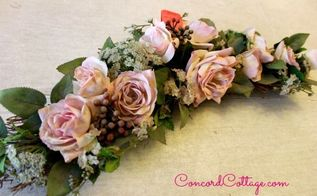 pink roses n burlap wreath, crafts, flowers, how to, seasonal holiday decor, wreaths