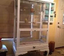 bird aviary from what, painted furniture, pets animals, repurposing upcycling, After tore apart