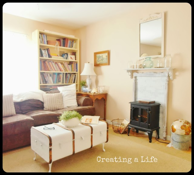 Diy Faux Fireplace Mantel Fireplaces Mantels Living Room Ideas Repurposing Upcycling Shelving