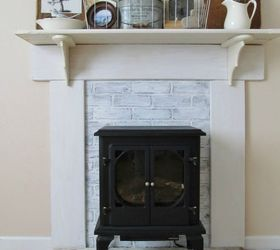 DIY Faux Fireplace Mantel Update | Hometalk