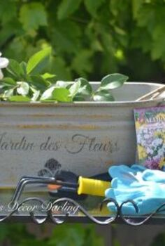 adding french country charm to an old bucket, container gardening, crafts, gardening, how to