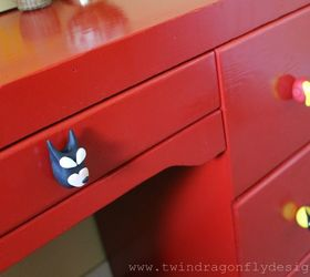 Upcycled Superhero Desk, Bedroom Ideas, Painted Furniture