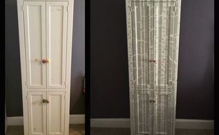 birch tree wardrobe, painted furniture