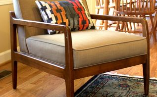 mid century chair gets a makeover with new upholstery, painted furniture, reupholster