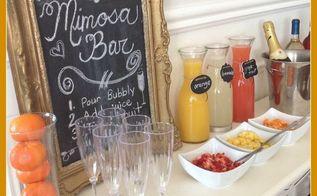 mimosa bar, home decor