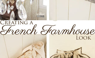 creating a french farmhouse look for less, bedroom ideas, lighting, repurposing upcycling, window treatments