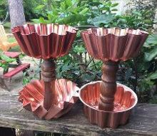 tiered copper pedastals, crafts, how to, repurposing upcycling