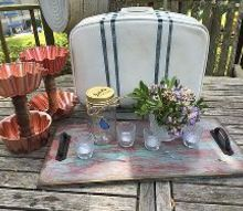funky vintage suitcase makeover, crafts, how to, repurposing upcycling