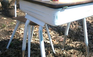 school desk make over how i taught an old desk a new trick, how to, painted furniture, repurposing upcycling, rustic furniture