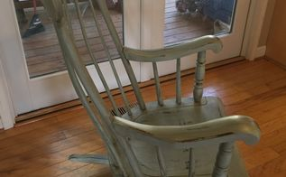 rocking chair makeover, painted furniture