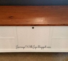 a new life for an old cedar chest painted furniture repurposing upcycling