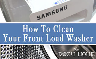 how to clean front load bezle