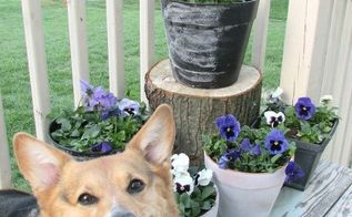 diy flower pots, chalkboard paint, container gardening, crafts, gardening