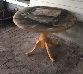refinished pedestal table outdoor furniture painted furniture - Refinish Table