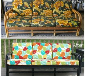 Captivating Thrift Store Rattan Sofa Makeover, Outdoor Furniture, Painted Furniture,  Reupholster