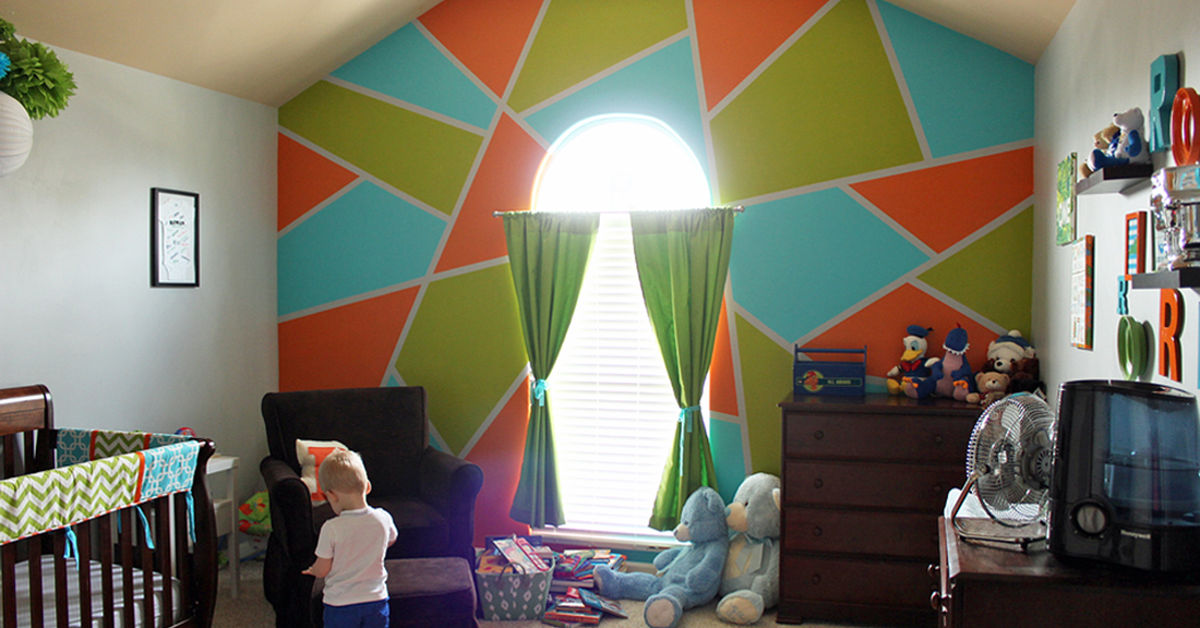 Bright & BOLD Accent Wall in Little Boy's Room | Hometalk