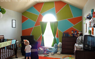 bright bold accent wall in little boy s room, bedroom ideas, how to, painting, wall decor
