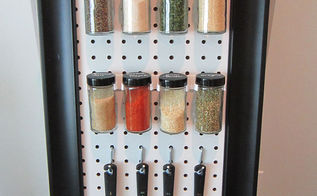 peg board spice rack, diy, organizing, storage ideas