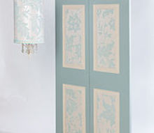 how to wallpaper a bi fold door to use as a headboard or screen, doors, how to, repurposing upcycling, wall decor