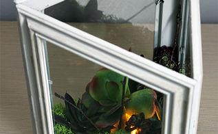 diy faux succulent terrarium, crafts, gardening, home decor, succulents, terrarium