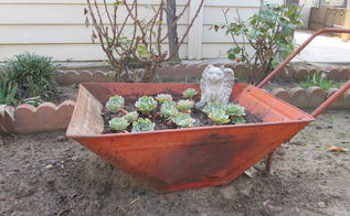 another rusty cart project, container gardening, gardening, repurposing upcycling