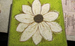hand painted garden stepping stones, concrete masonry, crafts, gardening, how to