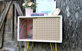 pegboard nightstands, diy, painted furniture, repurposing upcycling