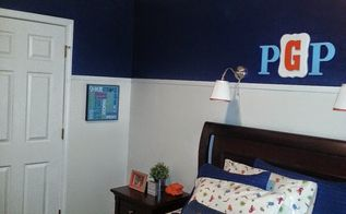 peyton s room makeover, bedroom ideas, lighting, painting, repurposing upcycling, THE MONOGRAM IS A DIY