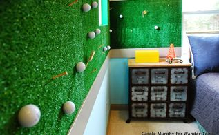 bring the putting green to your child s bedroom, bedroom ideas, repurposing upcycling, wall decor