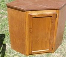 q what can i do with the curbside find, painted furniture, repurposing upcycling, With the door shut