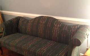 take the old make it new with a slipcover, painted furniture, reupholster, Before