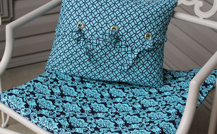 front porch inspiration with grommet pillow tutorial, crafts, how to, outdoor living, porches, repurposing upcycling, reupholster