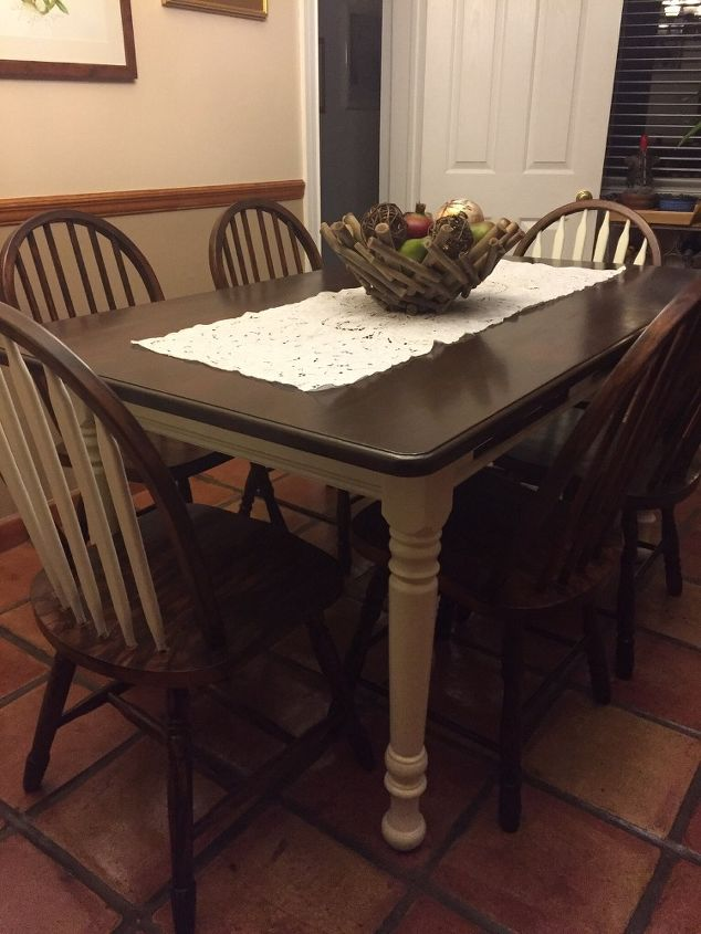 Refinished Dining Set Hometalk