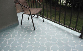 learn how to stencil a concrete balcony, concrete masonry, how to, painting, porches