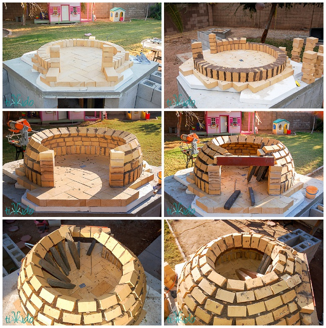 how to build a wood fired pizza oven in your backyard concrete