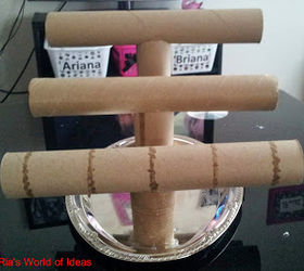 DIY Paper Towel Roll Jewelry Holder Hometalk