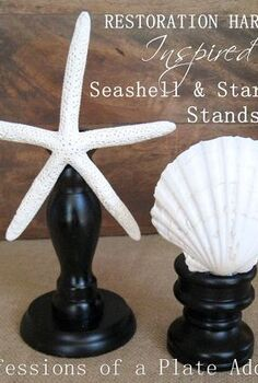restoration hardware inspired 1 00 seashell and starfish stands, crafts, how to, repurposing upcycling