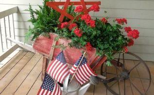 1 wooden star an easy diy project for memorial day or 4th of july, crafts, gardening, how to, outdoor living, patriotic decor ideas, porches