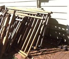 q what to do with old deck rails, decks, repurposing upcycling, woodworking projects, Deck Rails