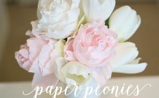 paper peony tutorial, crafts, flowers, how to