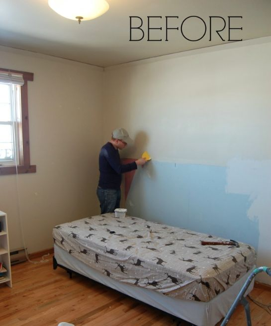 a floor to ceiling diy office makeover bedroom ideas home office painting - Diy Bedroom Painting Ideas